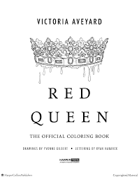 red queen book drawing red queen the ficial coloring book victoria aveyard paperback of red queen