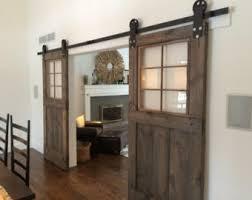 sliding barn doors interior. Vintage Custom Sliding Barn Door With Windows (price Is For One Door) Doors Interior E