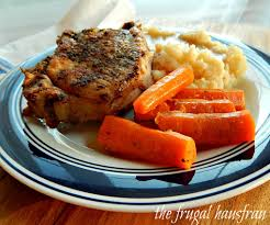 Not just frozen pork chops in the instant pot that are not tough, but about a one pot instant pot meal using frozen meat. Instant Pot Pork Chop One Pot Meal Frugal Hausfrau