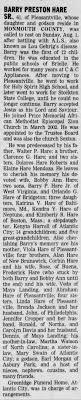 Obituary for BARRY HARE SR. PRESTON (Aged 61) - Newspapers.com