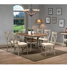 Balmoral Shabby Chic Country Cottage Antique Oak Wood and Distressed Light  Grey 7-Piece Dining Set - Free Shipping Today - Overstock.com - 17445845