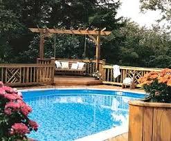 Beautiful Backyard Above Ground Pool Designs Decks Pools Landscaping Ideas Inside Decorating