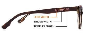 Sunglasses Frame Size Chart Sunglasses Eyeglasses Specs Frame Sizes Guide Lenskart