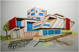 architectural drawings of modern houses. Exellent Modern Freehand One In Architectural Drawings Of Modern Houses O
