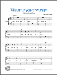 Piano sheet music letters may 2021 keyboard/piano notation of song let me love you. This Little Light Of Mine Free Easy Piano Sheet Music
