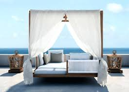 outdoor daybed with canopy pillows and candle also beach view diy bea outdoor daybed with canopy