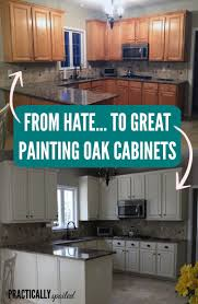 Painted Kitchen Cabinets From Hate To Great A Tale Of Painting Oak Cabinets