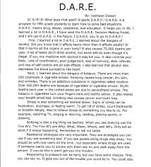 dare essays template dare essays