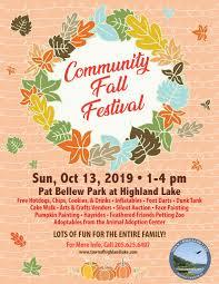 Fall Festival Flier Fall Festival Town Of Highland Lake