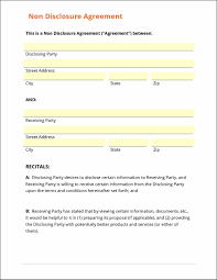 Sample Confidentiality Agreement Non Disclosure Agreement Template Word Agreement For 24
