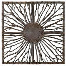 small square metal wall art