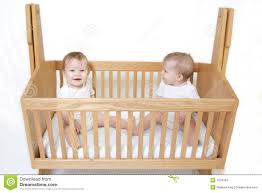 baby twins in crib royalty free stock images  image