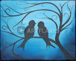 love birds painting art prints and posters by sunny christensen artflakes