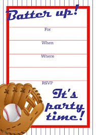 baseball invitation template com best images of baseball printable invitation templates
