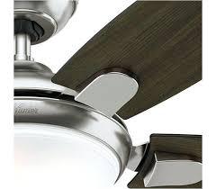 hunter fan contempo 52 ceiling fan hunter inch brushed nickel ceiling fan with light hunter fan