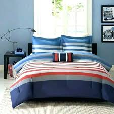 red and white striped quilt 3 piece grey blue rugby stripes comforter set horizontal stripe bedding