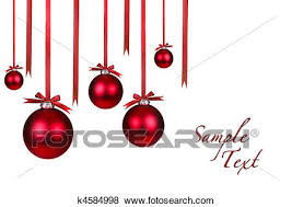hanging christmas ornaments background. Fine Christmas Holiday Christmas Ornaments Hanging With Bows On White Background For N