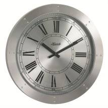 large office wall clocks. hermle crescent spun silver aluminum wall clock large office clocks