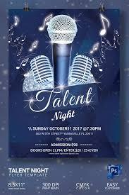 16 Amazing Talent Show Flyer Templates Psd Talent Show Talent