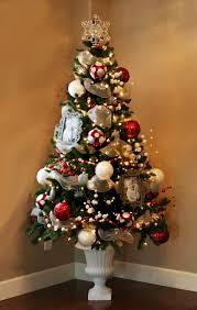 Gold And Silver Christmas Tree  Christmas Lights DecorationRed Silver And White Christmas Tree