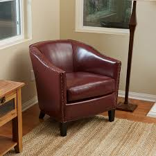 carlton red leather club chair modern living room small black leather club chair