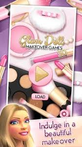 glam doll makeover games 3d poster