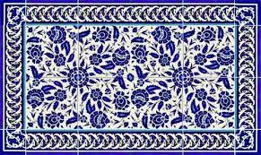 Blue And White Decorative Tiles Photo of shower tile using blue and white floral layout 13