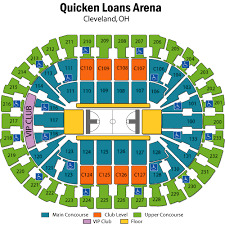 Rocket Mortgage Arena Seating Chart Quicken Loans Arena Seating Chart Views Reviews