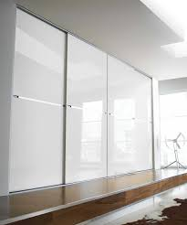 Sliding Wardrobe Minimalist White Glass