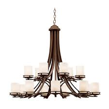 kichler lighting 1675oz kichler 1675oz hendrik collection casual transitional 15 light incandescent two