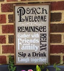 front porch signs wall