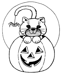 Small Picture Halloween Cat Coloring Pages Fun for Halloween