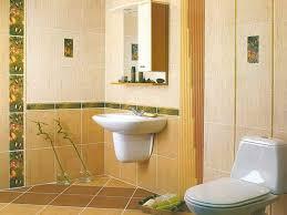 yellow bathroom wall tiles design