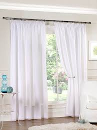 sentinel hathaway luxury lined voile curtain panels with tape top pair white
