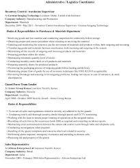 logistics coordinator resume resume example sales coordinator resume - Technology  Coordinator Resume