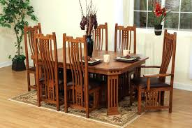 round mission style dining table pieces oak mission style dining room set with hexagon table small