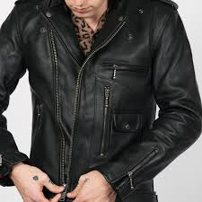 logan black leather jacket with metal hardware size 34 36 38 40 44 46 48