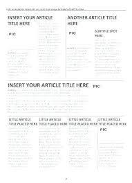 Newspaper Template Free Google Docs Newspaper Template For Mac