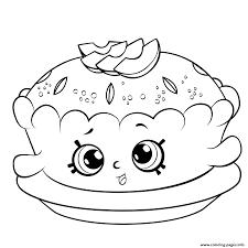 Print Shopkins Season 6 Apple Pie Coloring Pages Basia Shopkins