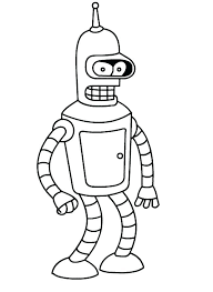 futurama coloring pages. Unique Pages Coloring Bender Futurama Pages  Intended Futurama Coloring Pages O