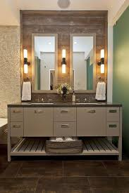 double framed mirrors with linear lighting 18 stunning master bathroom lighting ideas