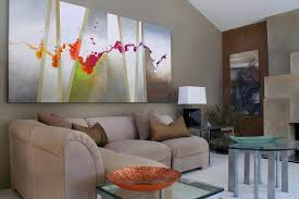 ... Art Interiors With Intriquing Large Scale Abstract Art Living Room  Large Art For Living Room ...