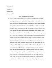 close reading paper comparison author s note examples i could  2 pages yellow write up analysis