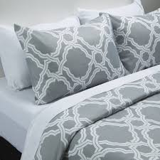 capri trellis duvet cover set grey
