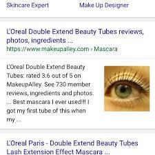 l oréal paris double extension beauty s mascara health makeupalley 9
