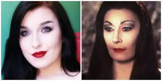morticia addams inspired gothic makeup tutorial