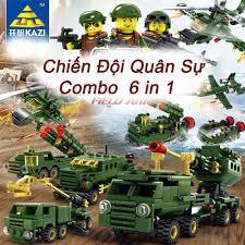 Bộ Đồ Chơi Mô Hình Lắp Ráp Lego Quân Đội 6 Trong 1 Xanh Đậm Loại To - Đồ  Chơi Phát Triển Trí Tuệ