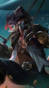 garena free fire pirate skin 4k