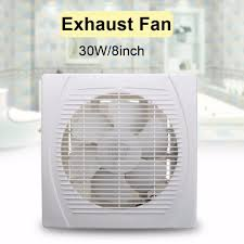 Best Bath Decor bathroom wall vent : 8/10 inch 30W Kitchen Bathroom Wall Mount Ventilation Exhaust Fan ...