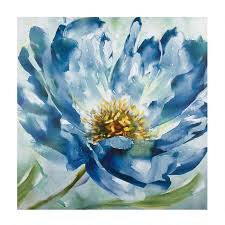 30 budding blue flower canvas wall art on canvas wall art blue flowers with 30 budding blue flower canvas wall art christmas tree shops andthat